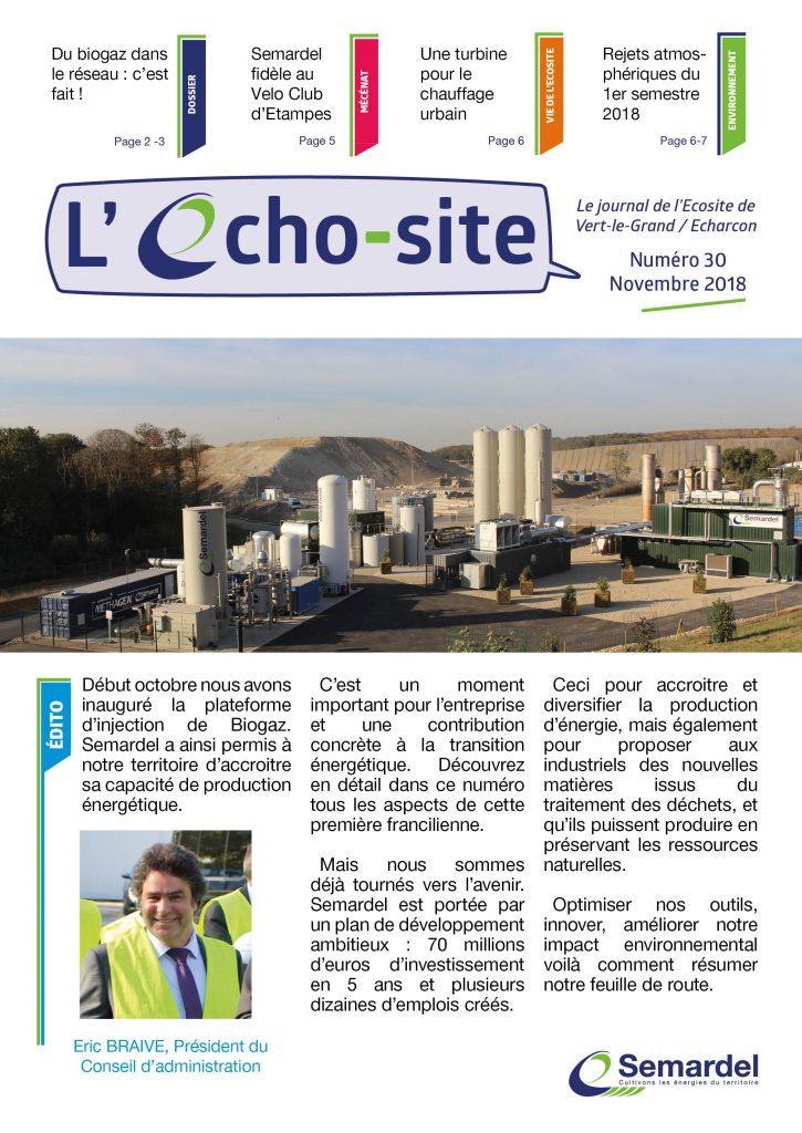 Echo-site n°30 - Novembre 2018