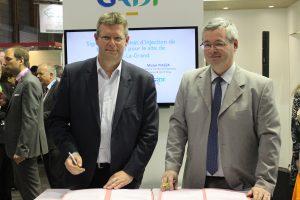 Signature du contrat de réinjection de biométhane de Semardel dans le réseau de GRDF