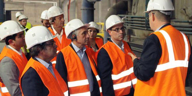 Michel Bisson, Président de la communauté d'agglomération de Grand Paris Sud,nouvel actionnaire de Semardel est venu visiter ses installations sur l'Ecosite de Vert-le-Grand / Echarcon