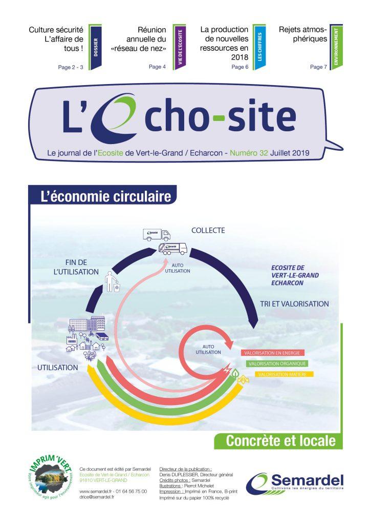 L'Echo-site, le journal de l'Ecosite de Vert-le-Grand / Echarcon - Numéro 32 juillet 2019